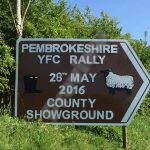 Clunderwen Rally Sign