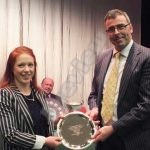 Mr Jeff Evans NFU Shield Best Actress Marged Simons Llawhaden